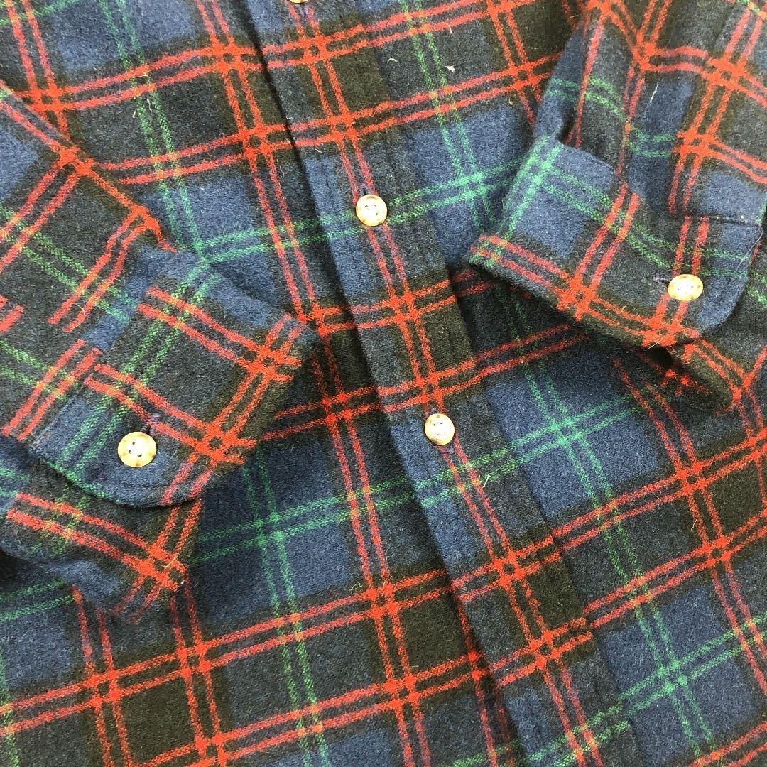 80's-90's PENDLETON オーバーサイズ チェック柄 ネルシャツ 長袖シャツ チェックシャツ