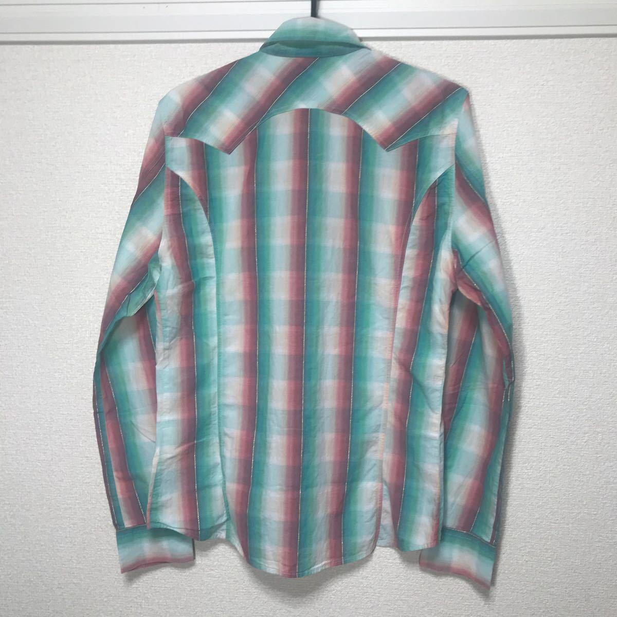 DIESEL ディーゼル シャツ 長袖 トップス スナップボタン サイズS