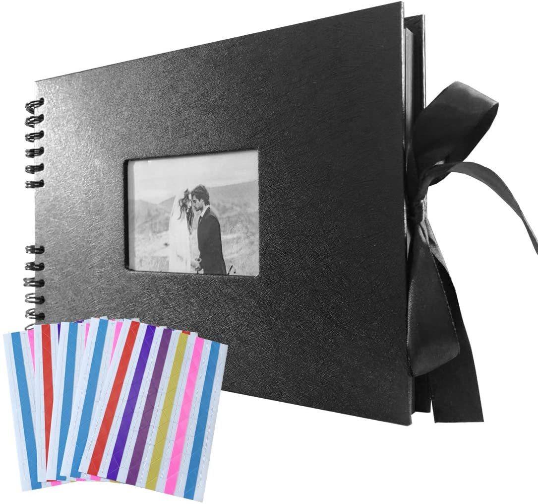 ■注目商品 ■手作り アルバム DIY 写真集 黒台紙40枚 スクラップブッキング 手作りフォトブック ラブメモリ_画像1