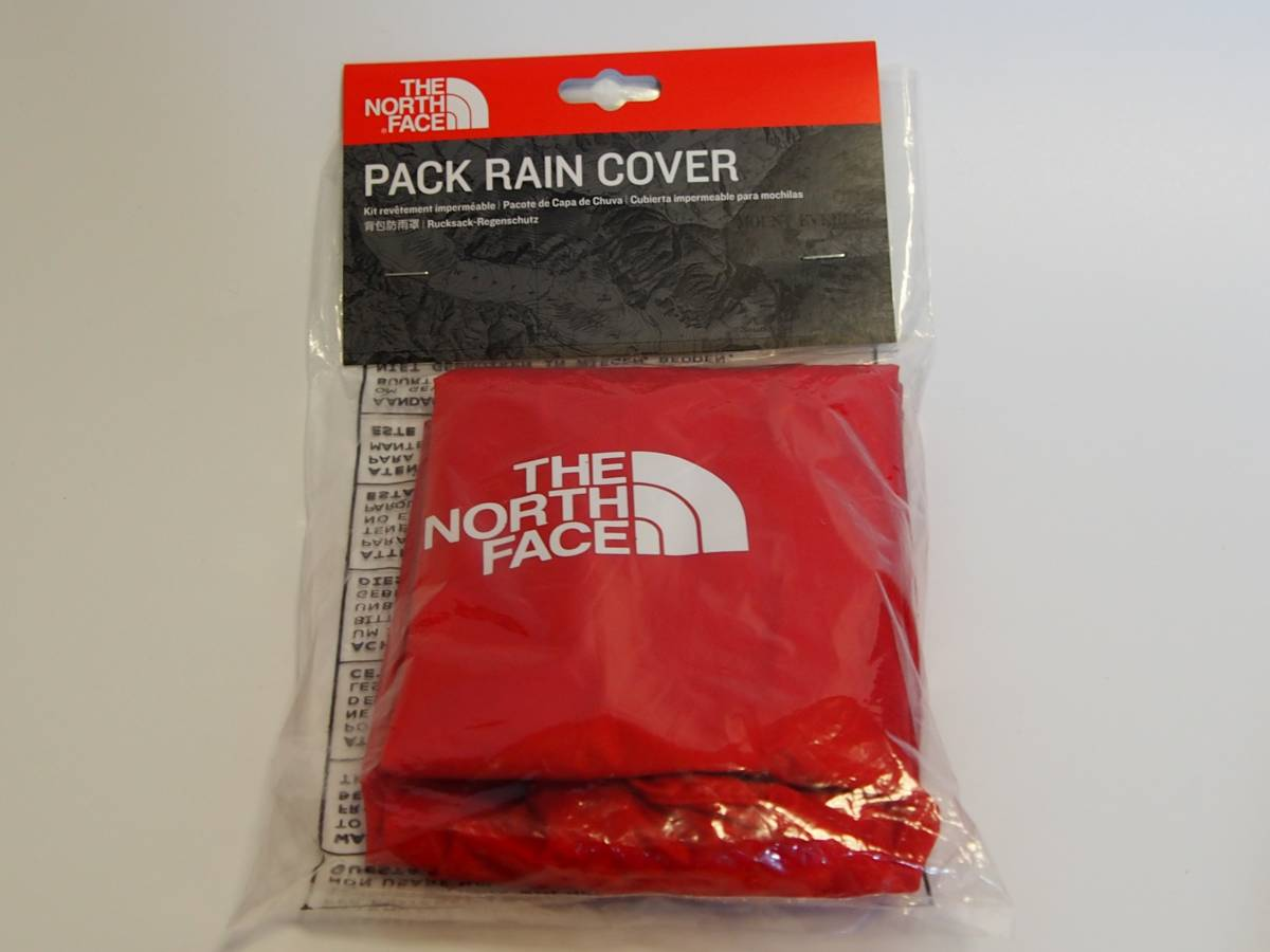 【USA購入、新品未使用】ノースフェイス バックパックレインカバー レッド S The North face Backpack Rain Cover Tnf Red_画像1