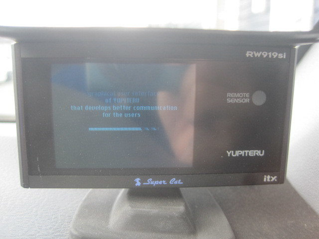 難有 通電のみOK 社外◆ユピテル スーパーキャット YUPITERU SuperCat GPSレーダー探知機 RW919Si ※SDカード欠品◆Ξ6057P E-16A_画像3