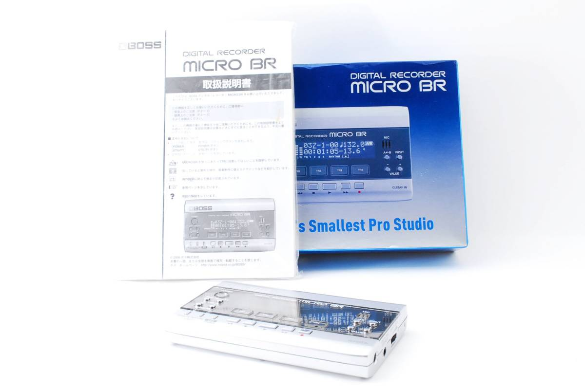 ボス BOSS MICRO BR ポータブル マルチトラック デジタル レコーダー DIGITAL RECORDER 箱、取扱説明書付き [美品] #681235_画像1