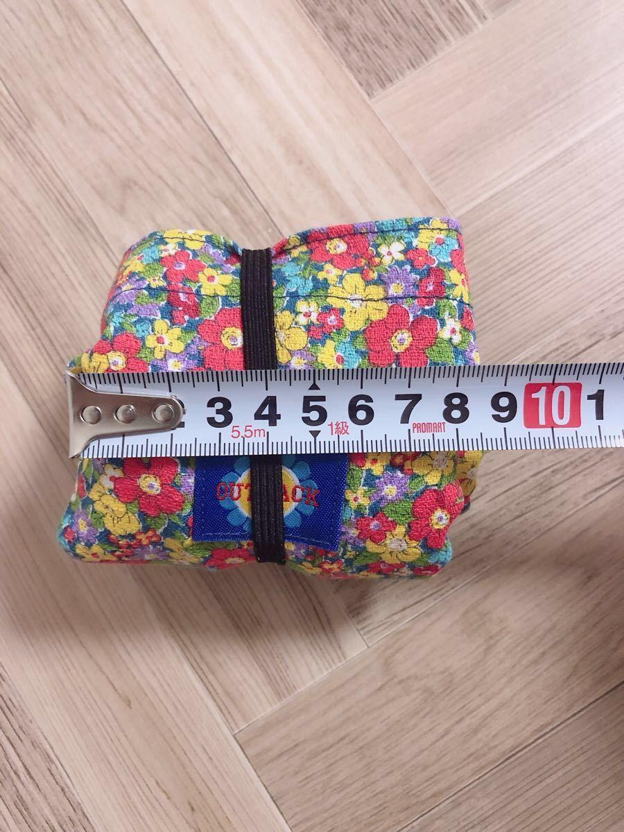 No.39*小花柄 Sサイズ   エコバッグ サブバッグ  ハンドメイド