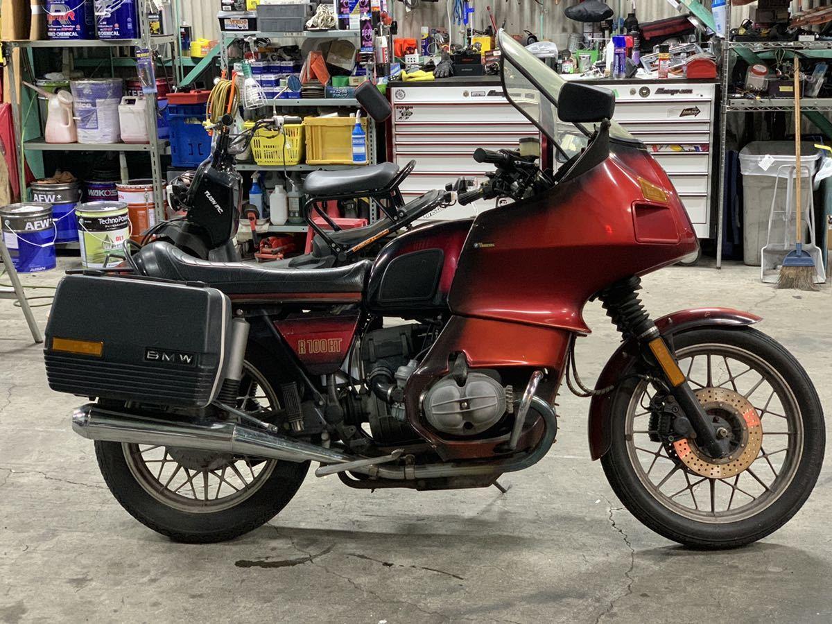 「昭和59年式 BMW R100RT ツアラーモデル ナビ ETC付きフロントブレーキオーバーホール バッテリー新品交換済み」の画像1