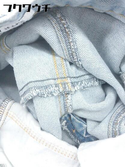 ◇ SLY スライ ウォッシュ加工 カットオフ テーパード ジーンズ デニム パンツ サイズ24 インディゴ レディース_画像6