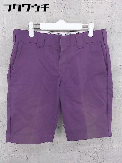 ◇ Dickies ディッキーズ ワーク ハーフ ショート パンツ サイズ81(32) パープル メンズ