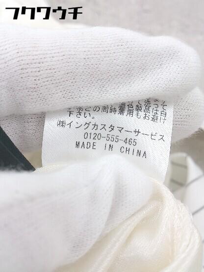 ◇ ◎ INGNI イング ベルト付 ストライプ ノースリーブ 膝丈 ワンピース サイズM オフホワイト レディース_画像5