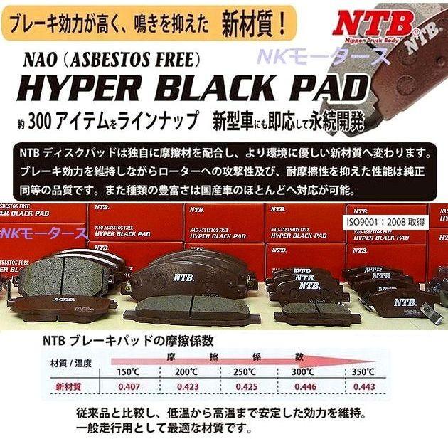 フロントブレーキパッド ミニカトッポ H31A H32V H32A H36A フロントパッド 高品質メーカーNTB製_画像1