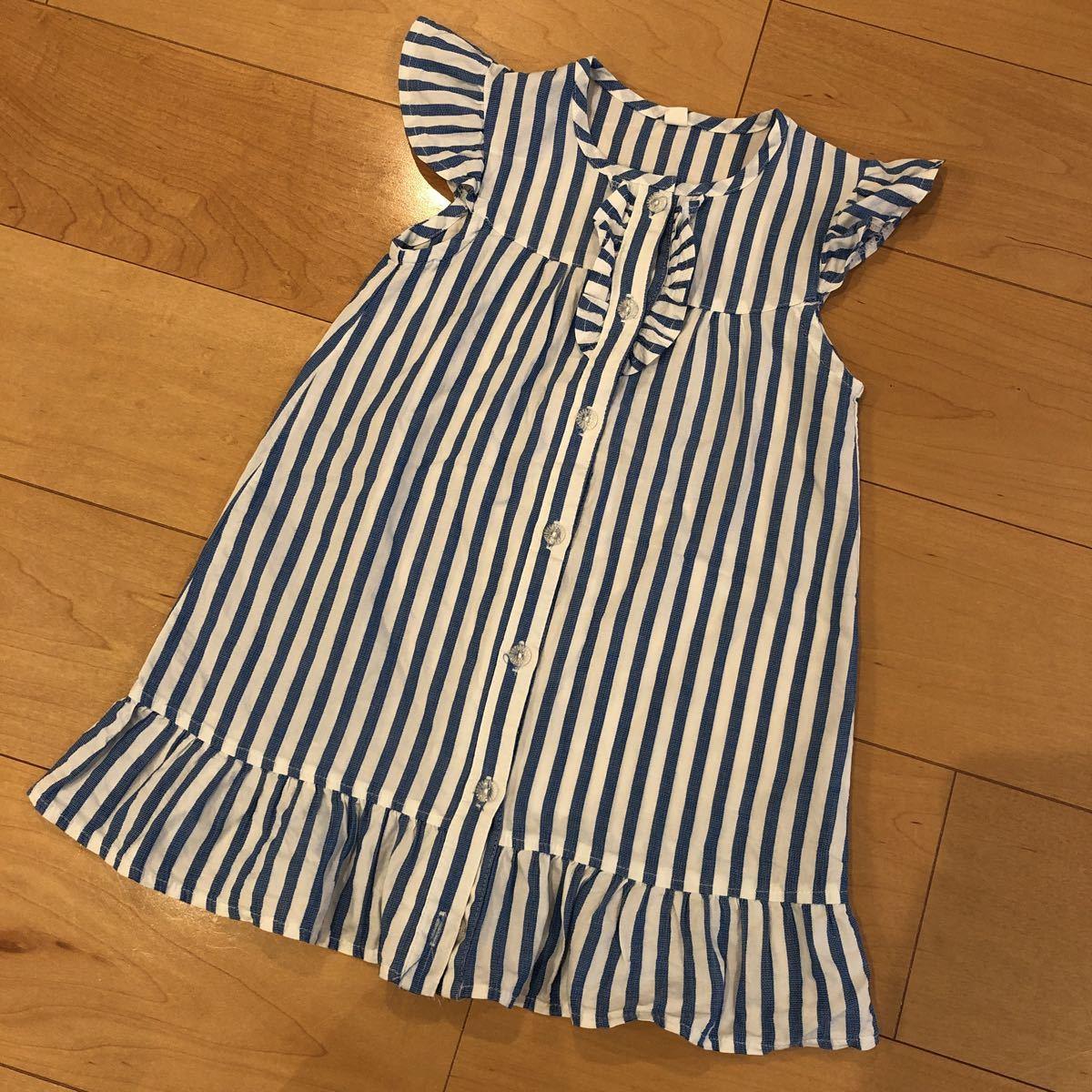 ★シャツ生地ワンピース⌒★120cm