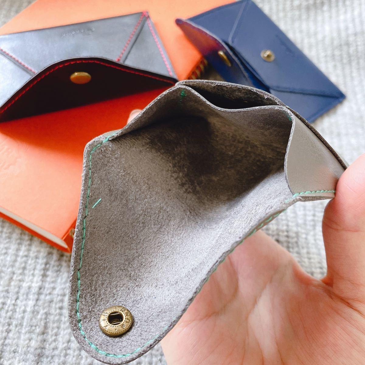 名刺入れ 財布 小銭入れ グレー メンズ レディース カードケース