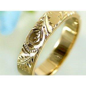 ペアリング 安い ハワイアンジュエリー 結婚指輪 ゴールド 18k イエローゴールドk18 マリッジリング シンプル 人気 プレゼント 女性 男性_画像3