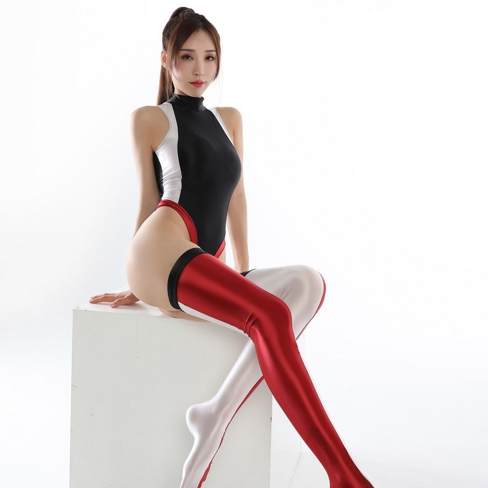2020年秋 今期最新作 上下セット コスプレ衣装 ハイレグレオタード レースクイーンレオタード ブラックレッド フリーサイズ_画像1