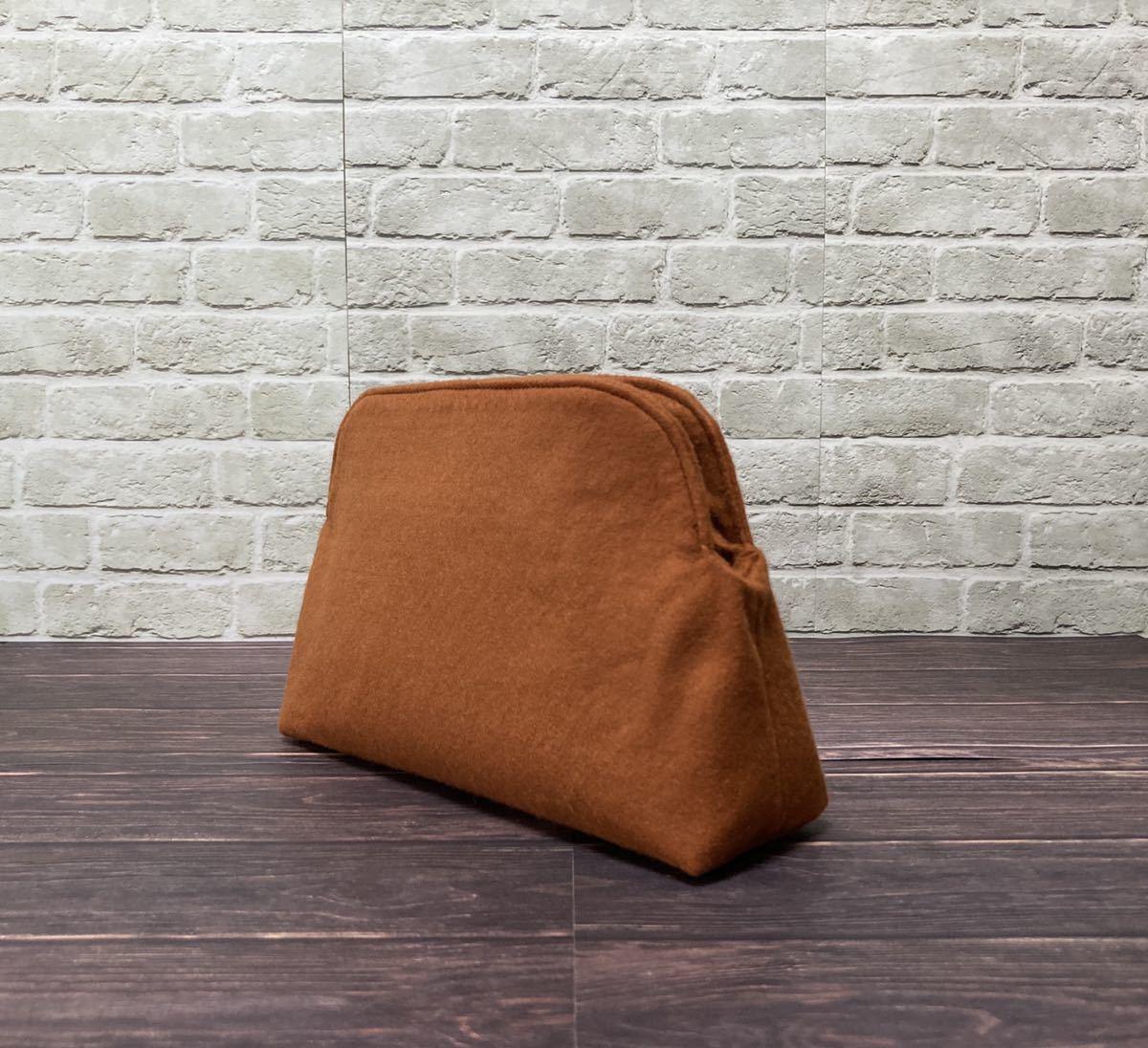 バッグインバッグ オーガナイザー ライトブラウン ボリード27サイズ対応 ハンドメイド
