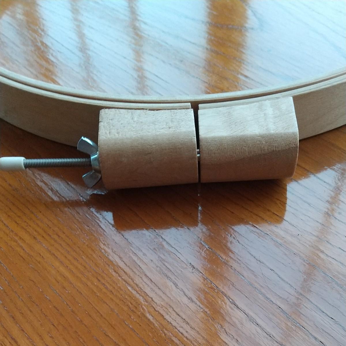 clover キルティングフープ 小 30cm 片面接着キルト芯 ハギレ