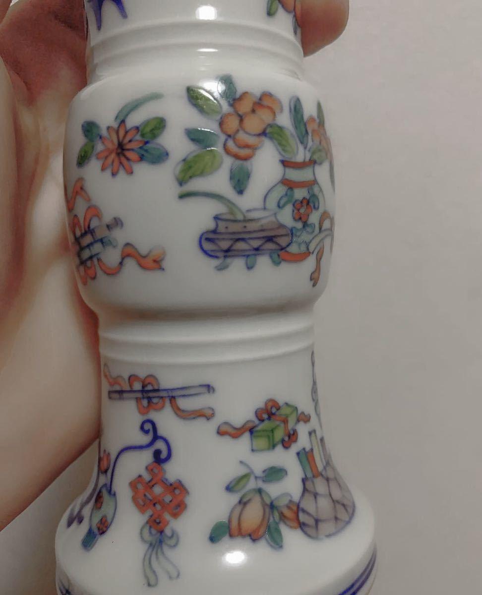 花瓶 在銘 大清乾隆年製 高さ21cm 骨董品 古磁器 中国美術品 清朝 傷なし 古玩 古伊万里古美術_画像2