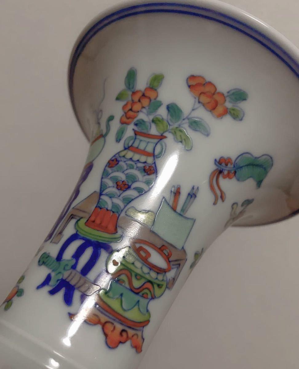 花瓶 在銘 大清乾隆年製 高さ21cm 骨董品 古磁器 中国美術品 清朝 傷なし 古玩 古伊万里古美術_画像5