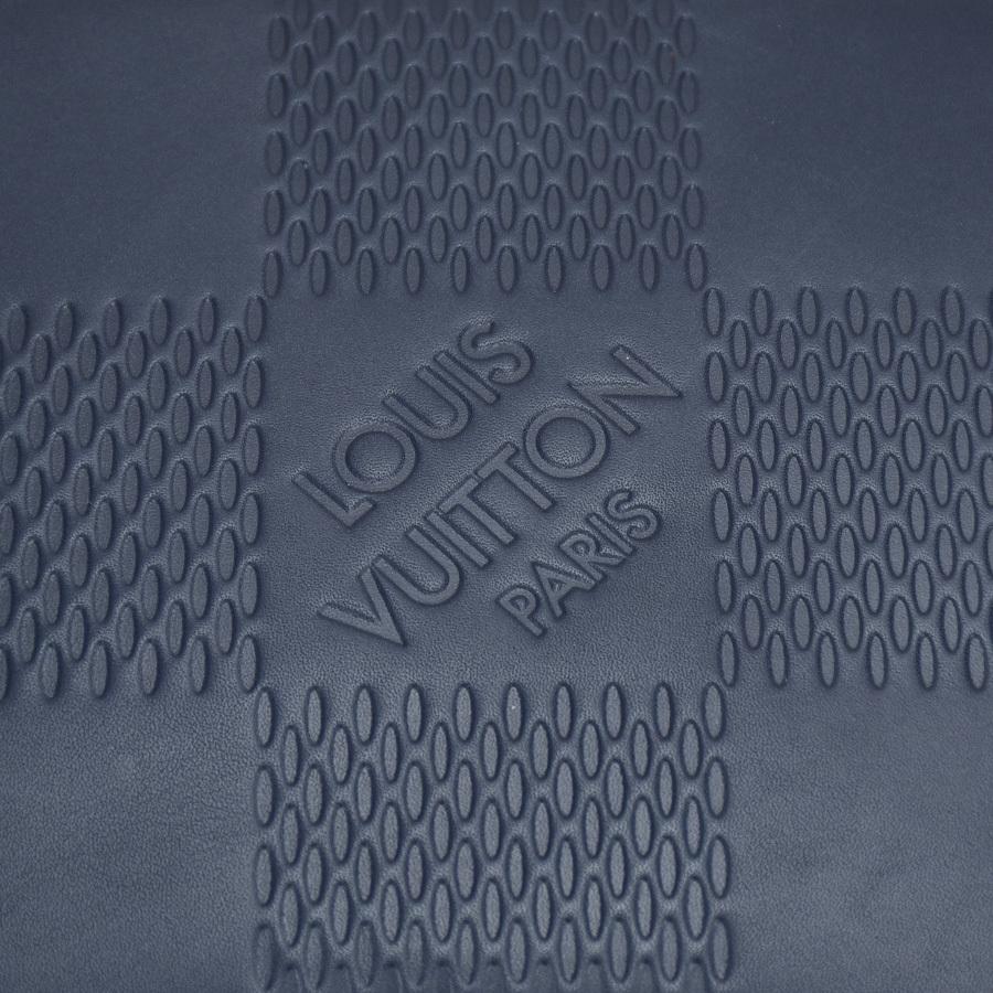 ルイヴィトン LOUIS VUITTON アポロ バックパック N44016 ダミエ アンフィニ レザー ブルー ネイビー 青 リュック アメリカズカップ 新同品_画像6
