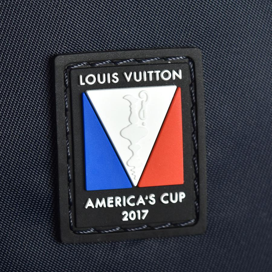 ルイヴィトン LOUIS VUITTON アポロ バックパック N44016 ダミエ アンフィニ レザー ブルー ネイビー 青 リュック アメリカズカップ 新同品_画像8