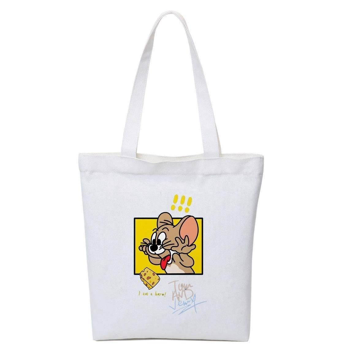 トートバッグ トムとジェリー 新品 未使用 アニメ 流行 帆布 トート バッグ