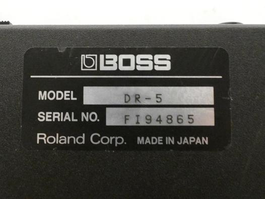 ■BOSS Dr.Thythm リズムマシン DR-5_画像6