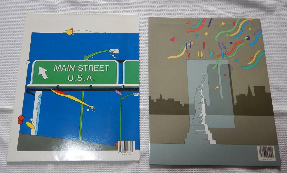 ニューヨーク アメリカ レポート用紙ファイル 2冊セット 24x30.5cm A4サイズ_画像2