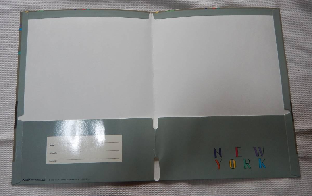 ニューヨーク アメリカ レポート用紙ファイル 2冊セット 24x30.5cm A4サイズ_画像3