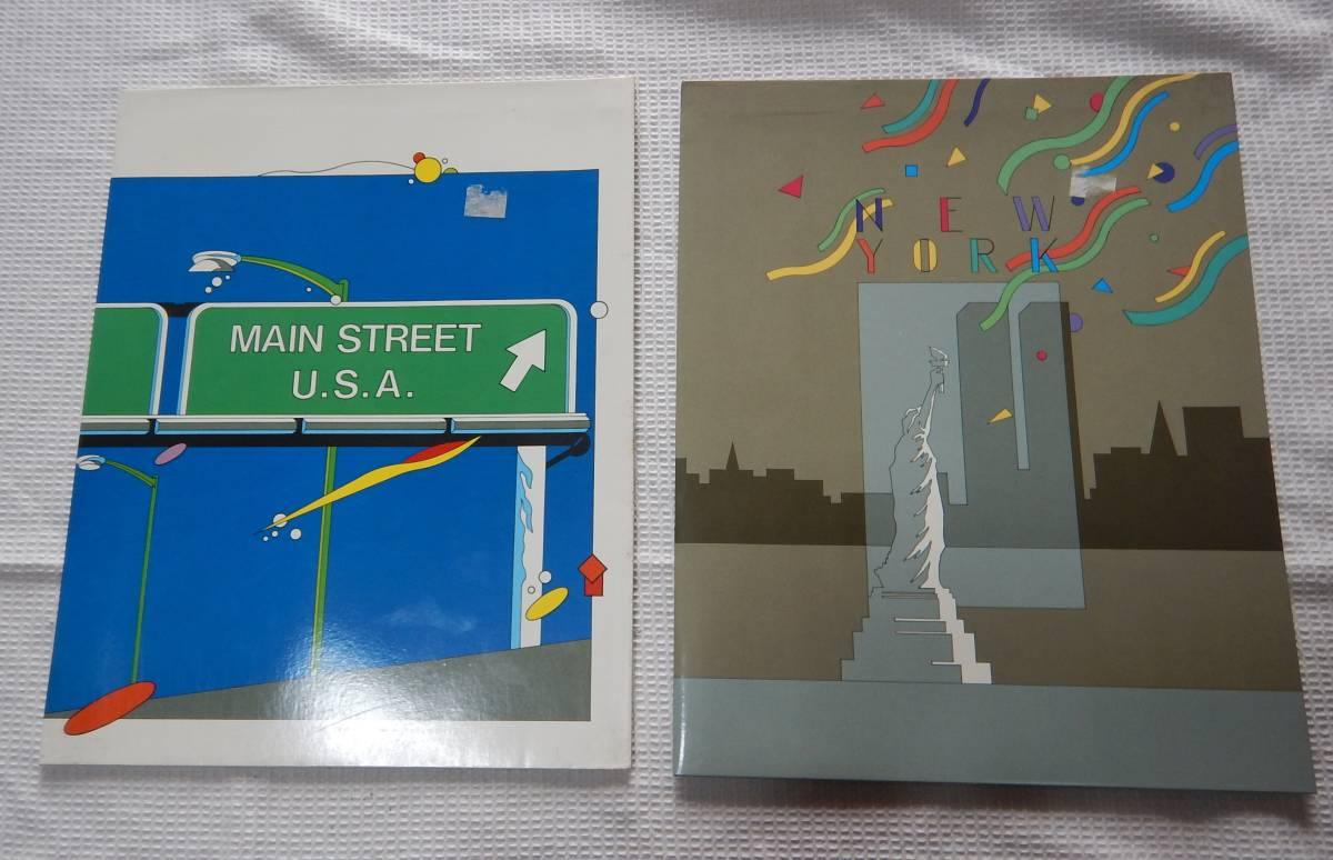 ニューヨーク アメリカ レポート用紙ファイル 2冊セット 24x30.5cm A4サイズ_画像1