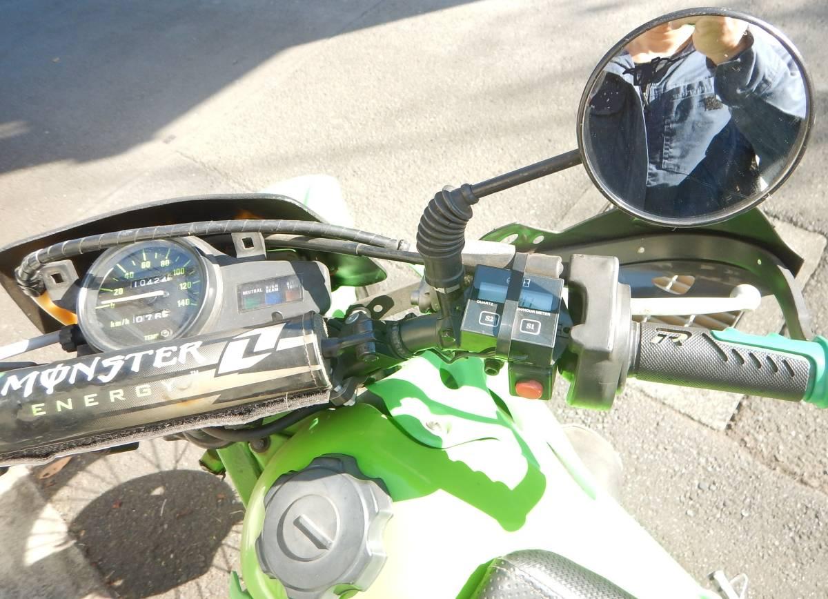 カワサキKDX125 チャンバー、サイレンサー、キャブレター、LEDライト、フルサイズモトクロッサータイヤ、アンダーガード等 カスタム多数_画像7