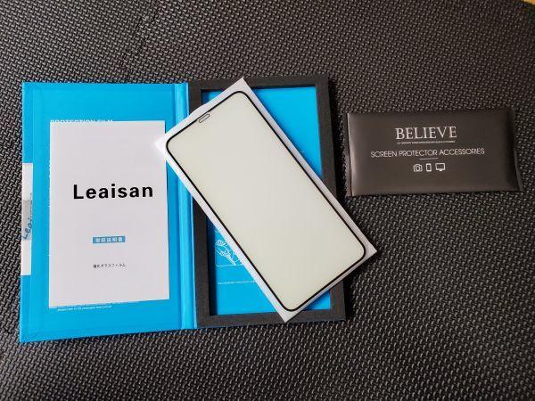 【3821】iPhone 11plomax/XsMax 液晶画面保護ガラスフィルム 日本製素材旭硝子製 超薄型 0.25mm 硬度9H 飛散防止 3D Touch対応 指紋防止_画像2