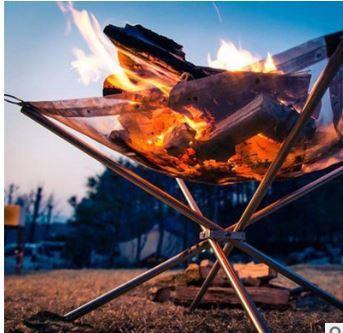 焚き火台+焚き火シート コンパクト軽量でおすすめ 折り畳み式 ファイアスタンド