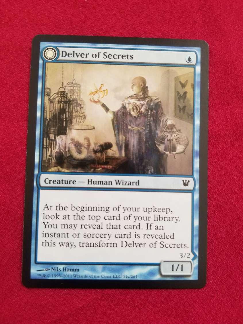 MTG Delver of Secrets 秘密を掘り下げる者 英語_画像1