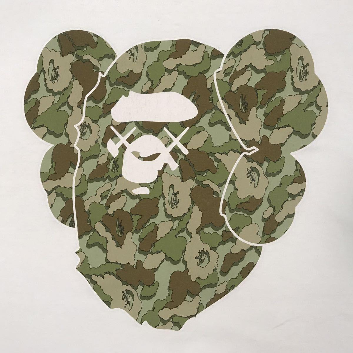 ★激レア★ kaws × bape cloud camo big head Tシャツ Lサイズ a bathing ape カウズ エイプ ベイプ アベイシングエイプ 迷彩 nigo 3252_画像2