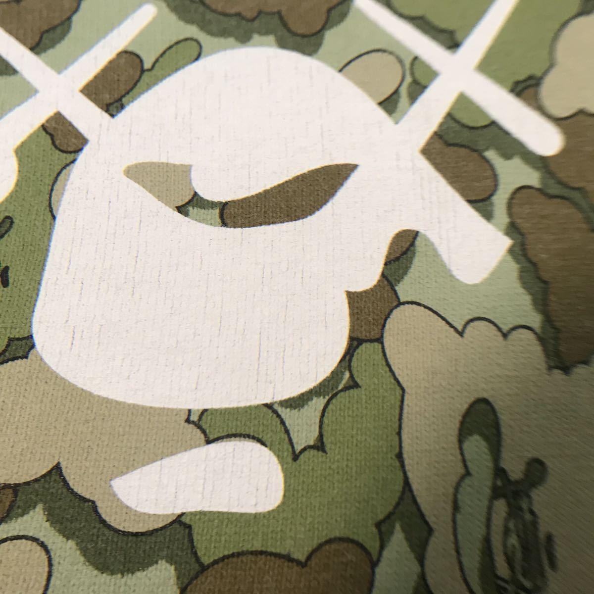 ★激レア★ kaws × bape cloud camo big head Tシャツ Lサイズ a bathing ape カウズ エイプ ベイプ アベイシングエイプ 迷彩 nigo 3252_画像4