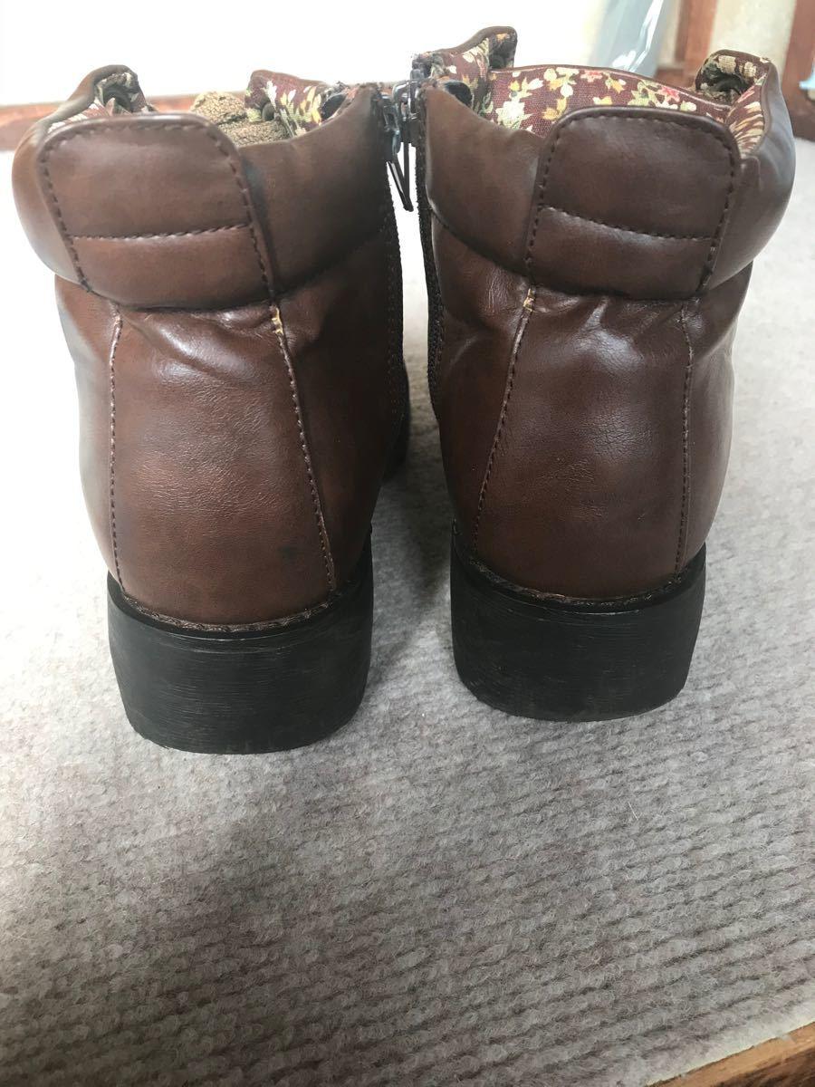 ブーツ ショートブーツ ブラウン