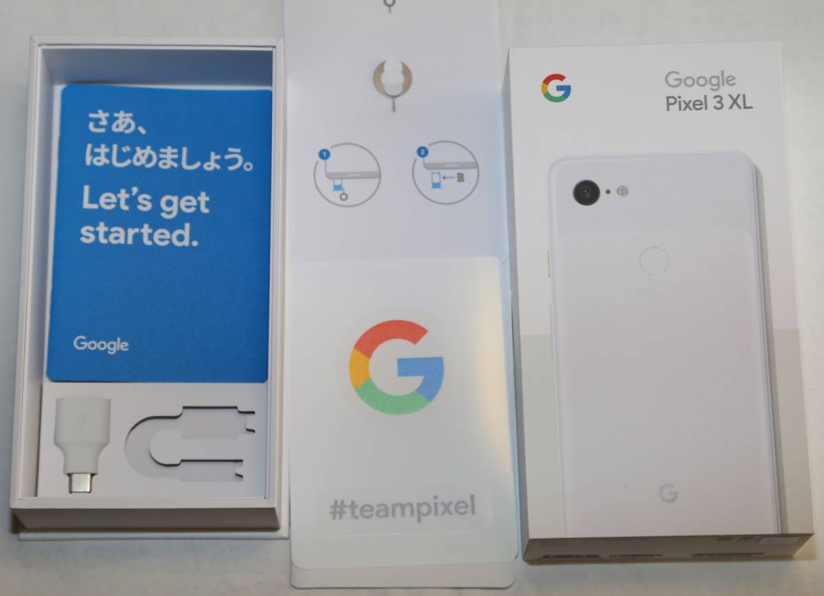 Google Pixel 3 XL 6.3インチ 128GB Clearly White Model G013D docomo シムロック解除済み 中古美品 即決 送料込_画像3