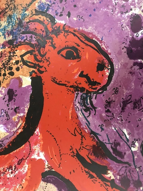 【特価】 ≪  マルク・シャガール  ≫  オリジナルリトグラフ【石版画】 WOMAN CIRCUS RIDER ON RED HORSE  MARC CHAGALL
