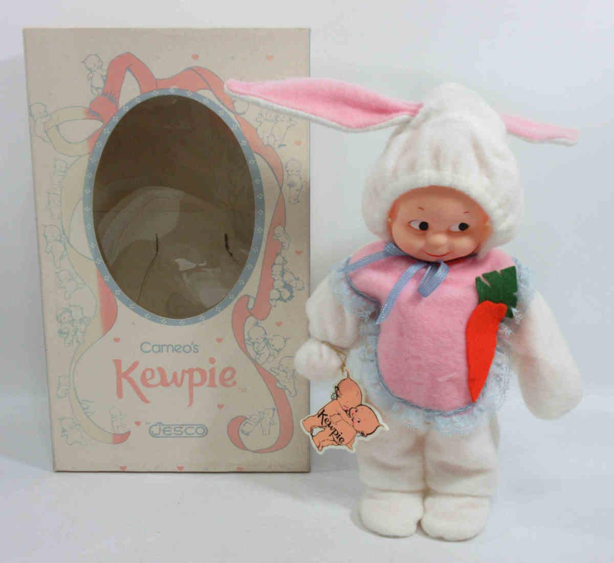 ★JESCO社 KEWPIE キューピー 28cm うさぎさん 元箱付 カメオ 5ジョイント ドール 人形 j81