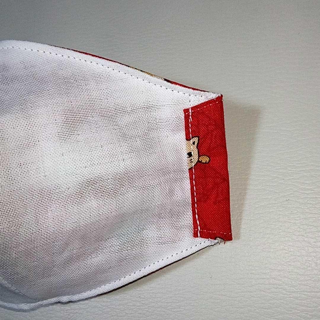 猫に鯛 魚 ネコ 立体型 インナーマスク Sサイズ(幼児~小学校低学年 子供)ハンドメイド S00035_画像7