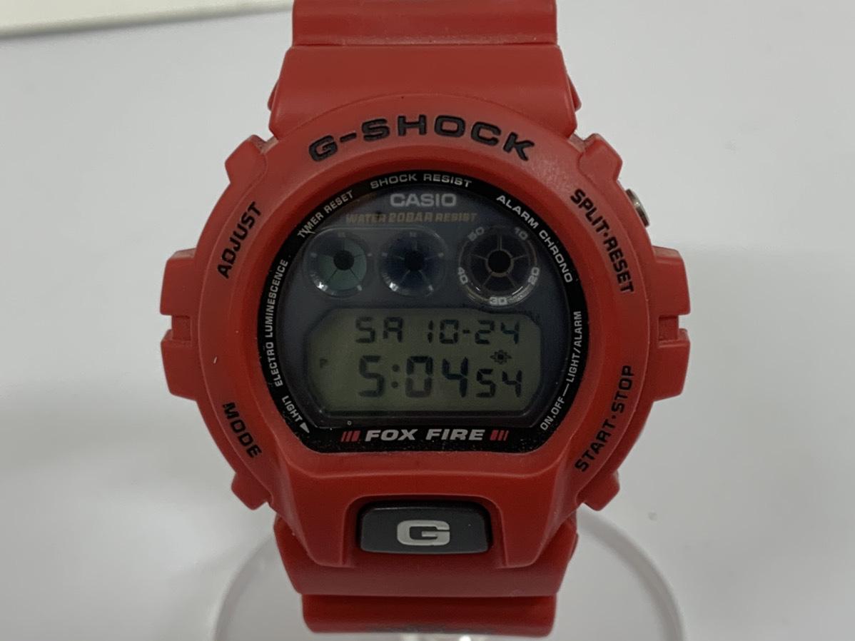 1円★訳あり★CASIO カシオ G-SHOCK Gショック FOXFIRE DW-6900 デジタル ウォッチ 腕時計 スラッシャー 仕様 赤 レッド系
