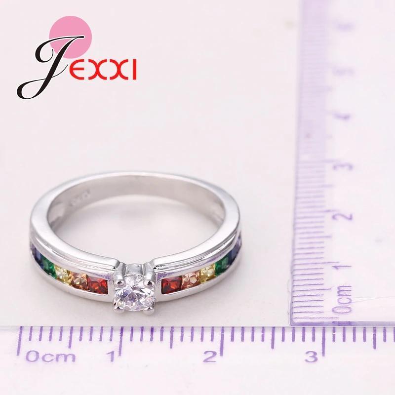 ファッション925スターリングシルバーホット販売虹婚約女性高品質のジュエリー_画像5
