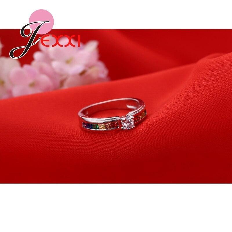 ファッション925スターリングシルバーホット販売虹婚約女性高品質のジュエリー_画像3
