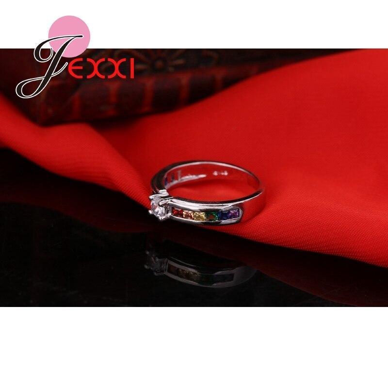 ファッション925スターリングシルバーホット販売虹婚約女性高品質のジュエリー_画像4