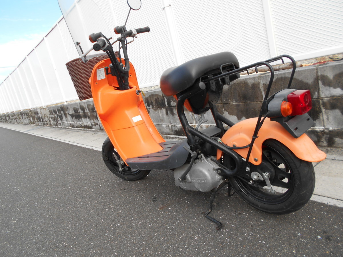 「絶版廃盤スズキ チョイノリCZ41A(オレンジ)趣味のバイクマニア館株式会社ギフトップトレ-ディングカンパニ-」の画像2