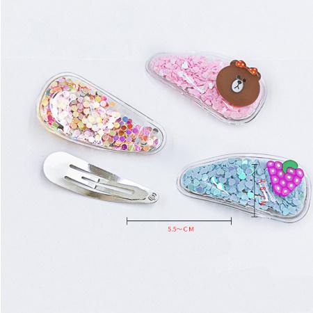 提案☆ 5ピース/パック 女の子の新透明ヘアピンファッション キッズクリップフルーツ動物ヘアアクセサリー_画像6