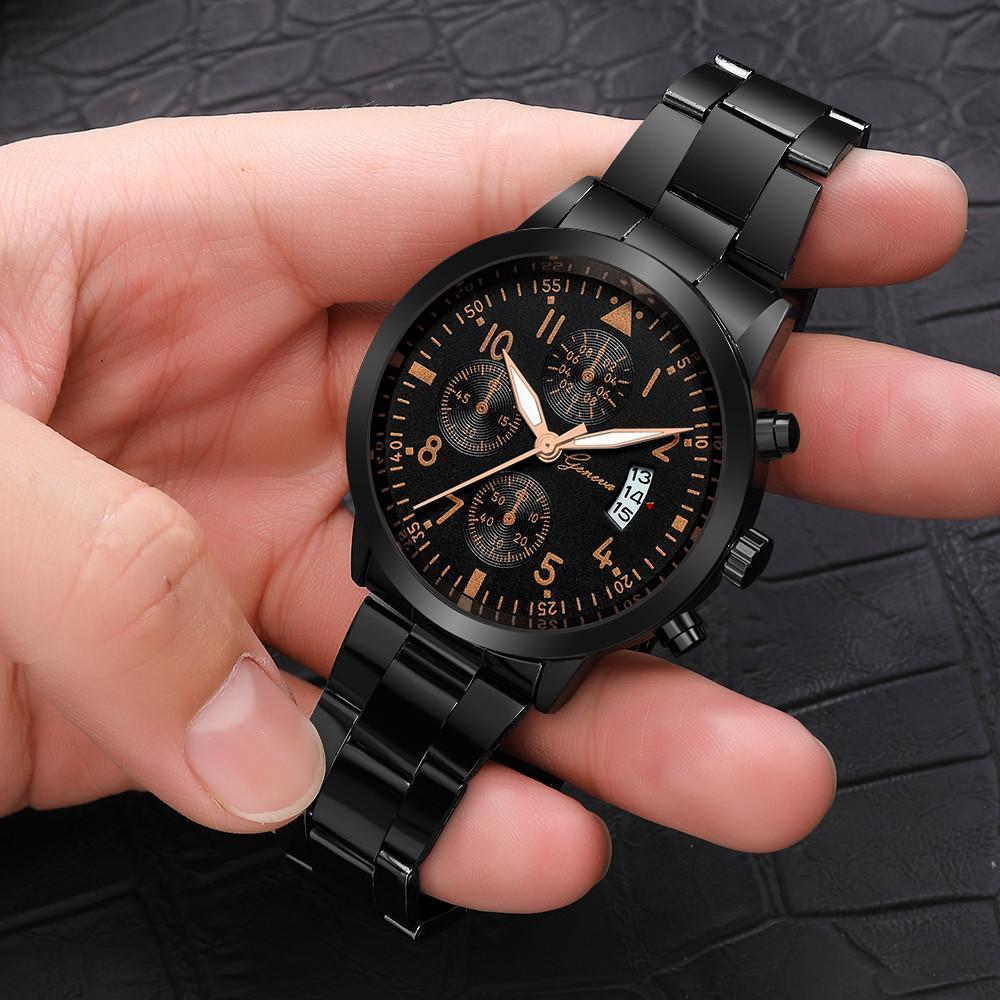 メンズ腕時計レロジオmasculinoステンレス鋼のカレンダーの時計男性ファッション軍事スポーツクォーツ腕時計リロイhombre zegarek meski_画像2