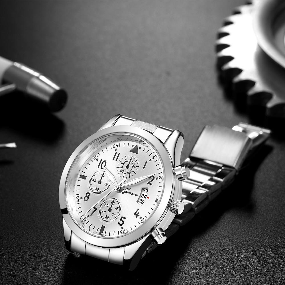 メンズ腕時計レロジオmasculinoステンレス鋼のカレンダーの時計男性ファッション軍事スポーツクォーツ腕時計リロイhombre zegarek meski_画像6