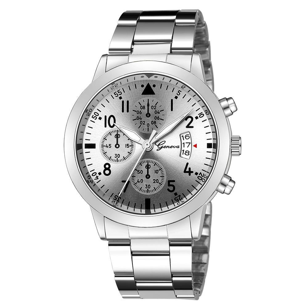 メンズ腕時計レロジオmasculinoステンレス鋼のカレンダーの時計男性ファッション軍事スポーツクォーツ腕時計リロイhombre zegarek meski_画像3