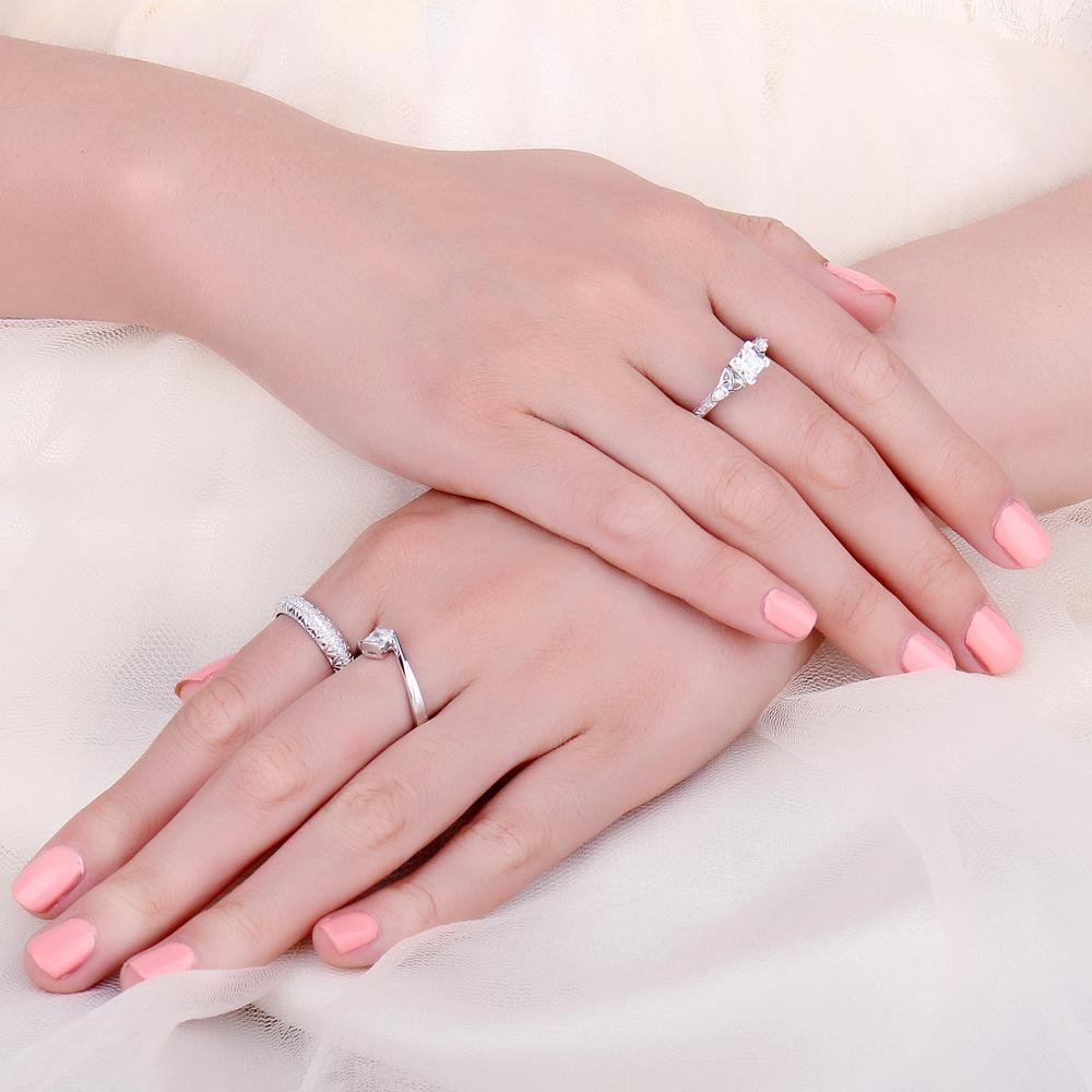 【★★新品★★】Jpalaceケルトノット王女cz婚約指輪 925スターリングシルバーリング _画像3