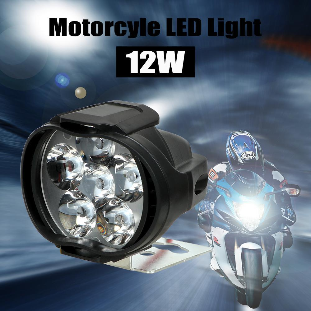 【★★新品★★】2個オートバイヘッドライト6500 18kホワイト超高輝度6 LED作業スポットライトバイクフォグランプ1200LM スクーター_画像3