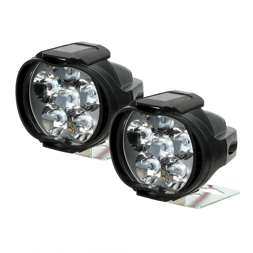【★★新品★★】2個オートバイヘッドライト6500 18kホワイト超高輝度6 LED作業スポットライトバイクフォグランプ1200LM スクーター_画像4